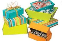 Boxes & Baskets / For Gift Baskets, Gifts, and Decorative Shipping: trays, boxes, shreds and more!