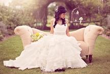 Wedding Dress & Accessories / Wedding dress, shoes, hair, nails; Bridesmaids dresses