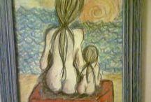 I miei dipinti / disegni su carta e  tele