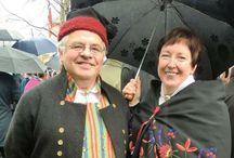 Nastional costumes of Norway, handmade by myselv. / Bunadene jeg har sydd. Norwegian bunad, handmade by me.