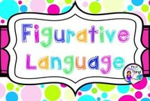 Figurative Language / Ideas for teaching figurative language using songs, poetry, task cards, and games, etc.