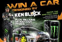 Win a car designed by Ken Block app / A #Facebook #promotional #application featuring #Monster Energy's Ken #Block where users sign up and take part in the #competition to win exclusive prizes
