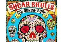 Sugar Skull Coloring Books / Collection of Sugar Skulls coloring Books.