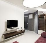 The completed project of 46m² studio apartment / Contemporary style: Zanotta, ALIVAR, Wittmann, ABC Cucine,  NAOS, Desalto, Rimadesio, Kuppersbusch, Laufen, VIBIA, Bang&Olufsen