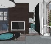 29m² studio apartment / Contemporary style / SketchUp
