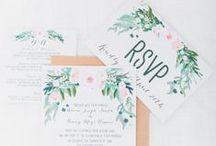 Wedding Stationary / An inspirational board for wedding stationary