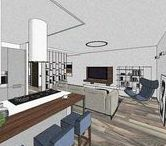 156m² house / 1st floor [60m²] / Contemporary style / SketchUp