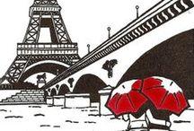 Paris / Wenn der liebe Gott sich im Himmel langweilt, dann öffnet er das Fenster und betrachtet die Boulevards von Paris. (Heinrich Heine)