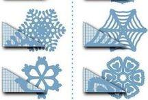Papiersterne / DIY Snowflakes