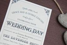 Vintage Script Collection by Sarah Alexis Stationery / Vintage Script Wedding Stationery Collection