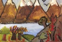 Group of Seven Lesson / The landscape paintings of the Group of Seven are some of the most famous in the world. Students will learn about this well known group of Toronto painters who used the rugged landscape of Ontario as their inspiration and subject matter. Students will be instructed in how to create their own landscape painting with acrylic paint on canvas or mat board.