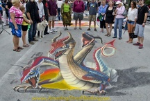 My 3D street paintings / 3D anamorphic street paintings and chalk art that I have done over the years