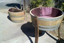 Wine Barrel Creations / Wine barrels reused creating unique backyard solutions
