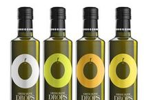 Greek Olive Drops / A new line of premium quality Greek extra virgin olive oils, designed for one of the major Greek olive oil companies, Eleon Hellas, the olive oil division of Soya Hellas SA. Designed by DASC Branding, Greece