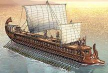 """Navium / """"Bajel pirata que llaman, por su bravura, el Temido, en todo mar conocido del uno al otro confín. La luna en el mar rïela, en la lona gime el viento, y alza en blando movimiento olas de plata y azul; y va el capitán pirata, cantando alegre en la popa, Asia a un lado, al otro Europa, y allá a su frente Estambul   Que es mi barco mi tesoro, que es mi dios la libertad, mi ley, la fuerza y el viento, mi única patria, la mar."""""""