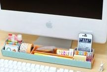 Office + Work Station Tips / Organizing Your Command Center :: Desk :: Cubicle :: Home Office :: Mobile Office :: Traditional Workspace