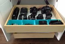 Photography + Camera Tips / Organize Your Cameras & Accessories While Learning How To Use All Those Parts