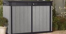 Outdoor Horizontal Storage Sheds / Maintenance free, stylish, horizontal storage sheds for a patio or garden