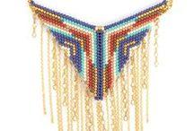 Beading / Zbiór inspiracji związanych z biżuterią stworzoną z koralików, peyote stitch, brick stitch itp.