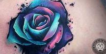 Inspiração para Tatuagens / Tatuagens femininas para se inspirar...  #tatuagem #tatuagens #traçofino #aquarela #animais #flores