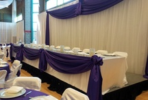 Elegant Head Table Decor by Beyond Elegance / Enhance the beauty of your reception area with our Event Design decor for your wedding.