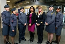 International Women's Day / To celebrate International Women's Day, CityJet and female members of the Royal Air Force Cadets took to London City airport to encourage a practical interest in aviation and the Royal Air Force among young women. CityJet CEO Christine Ourmières and pilot 1st Officer Sheena Chapple were on hand to chat to the cadets.