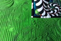 Free motion quilting / Alexis Winter Garden fabrics, designer Sue Patten