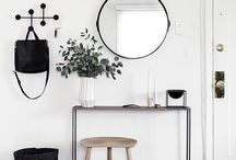 Home Inspiration. / Old wooden floors, brick walls, white and bright, keep it simple, lot's of pillows, fresh, big and organized walk-in closet, spacious kitchen, blackboard walls, black and grey, chandeliers, white beautiful dressing table, DIY, lot's of tables and pictures, old, Patio doors and much more..
