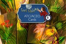 Digital Printables / Digital papers and ATC/ACEO cards that can be printed to be used for craft projects such as scrapbooking, ATC's, ACEO's, collage, visual journaling.