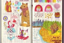 ART : inspiring sketchbooks & journals / Sketchbook, art journal / by Johana Ufa