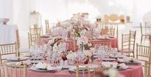 Mr&Mrs in pink, copper and black / Elegant outdoors wedding. Ceremony, setup and flowers details. See the full wedding here >>>> goo.gl/VsqHSE