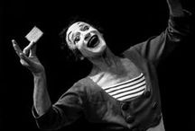 "Marcel Marceau / Marcel Marceau (22 March 1923 - 22 September 2007)was an internationally acclaimed French actor and mime most famous for his stage persona as ""Bip the Clown."" He referred to mime as the ""art of silence,"" and he performed professionally worldwide for over 60 years. / by Athena Mlle.♔"
