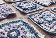 Crochet granny square blanket / My granny square obsession turns into a Nordic inspired blanket. Squares from different people and places gathered under one color scheme.  Drops - Spring Lane CAL Scheepjes - Nuts About Squares CAL  Jen Tyler - My African Valentino