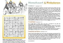 Hemelvaart en Pinksteren - werkbladen