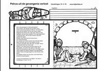 Bijbelverhaal met werkblad