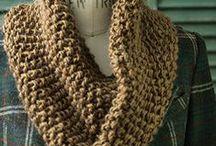 bufandas, cuellos, bragas y chales - scarves, cowls, shawls / Bufandas, cuellos, bragas y chales de ganchillo o punto Crochet or knitted scarves, cowls