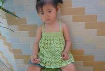 para la niña - for girls / tops, chalecos, vestidos de ganchillo - crochet tops, vests,dresses