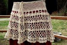 vestidos y faldas de punto y ganchillo - knit and crochet dresses and skirts / vestidos y faldas de punto y ganchillo -  knit and crochet dresses and skirts