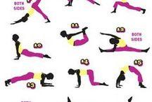 Jumppaa, pilates, workout, fitness / sekalaista jumppaa, pilatesta, venytyksiä, zumba yms.  - workout, fitness, piloxing