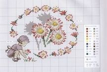 broderie point de croix : Printemps