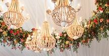 Decor Inspiration for Brampton Grange / From fresh flower walls to grand artificial floral arches and chandeliers.......