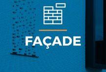 ⌂ Façade ⌂ / Ici tu peux trouver des idées inspirantes pour ta façade. Découvrez des maisons inspirantes avec différents types de briques et enduits de façade.