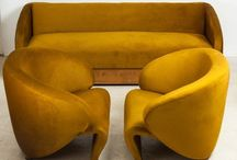 Mid-Century Pieces and Contemporary Rivals / Mid-Century Modern Spaces and modern accessories