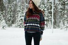 INVIERNO. By Ana María. / Outfits para la nieve. Snow, winter.