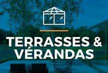 ⌂ Terrasses & Vérandas ⌂ / Jouir du soleil tant à l'intérieur qu'à l'extérieur? Laissez-vous inspirer par ces terrasses et vérandas.