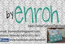 cushions...by enroh / https://facebook.com/byenroh