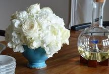 All White Floral Arrangements / Designs that use all-white flowers.