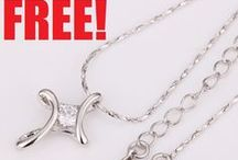 FREE White Gold Cross Pendant Necklace - Just Pay Shipping!