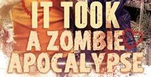 It Took A Zombie Apocalypse / It started with a kiss.  Then the zombies came. Now, Missy must work with the neighbor her parents hate if she wants to survive. But zombies aren't the only threat to her life, or her heart.