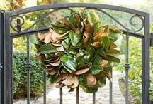 Christmas Wreaths / Beautiful holiday wreaths made of fresh foliage and fragrant greens. These Christmas wreath ideas will inspire how you decorate your home for the holidays.